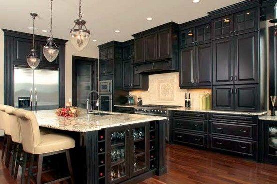 Kitchen Dark Cabinets Dark Kitchen Cabinets Stained Kitchen