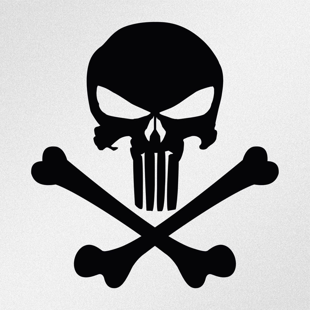Punisher Skull Crossbones Car Body Window Bumper Vinyl Decal - Vinyl decals for car body
