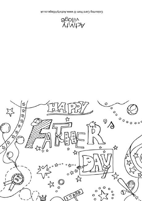 happy father s day colouring card 2 father s day pinterest