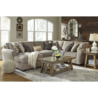 Benchcraft Pantomine Reversible Sectional With Images Suburban Furniture Livingroom Layout Brown Living Room Decor