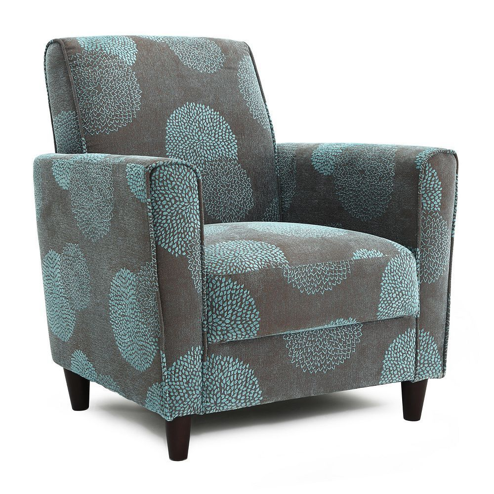 Dhi Enzo Sunflower Contemporary Style Accent Arm Chair Blue: Wayfair Living Room Chairs