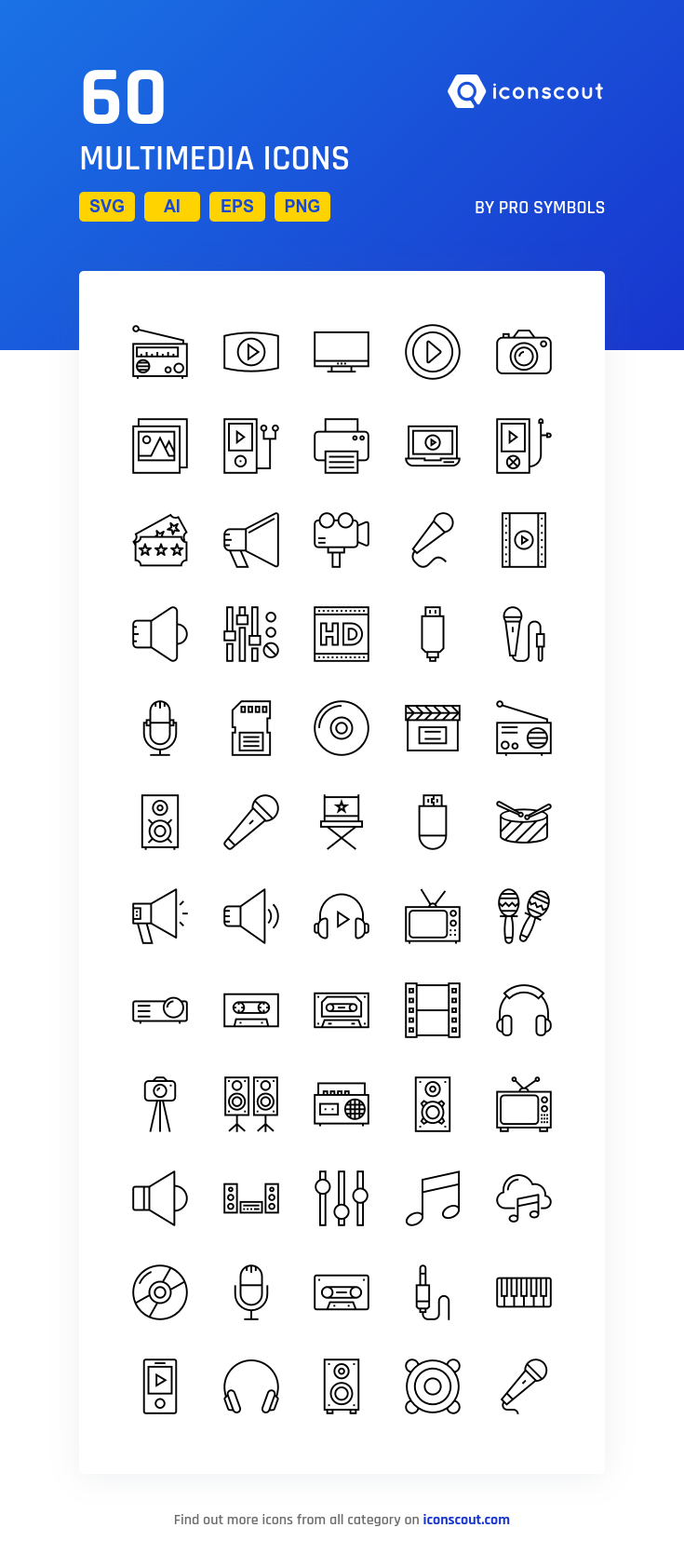 Download Multimedia Icon pack Available in SVG, PNG, EPS