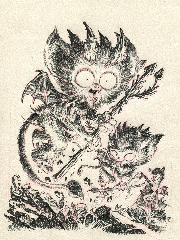 THE DEVILS - Original art | Freaky | Pinterest
