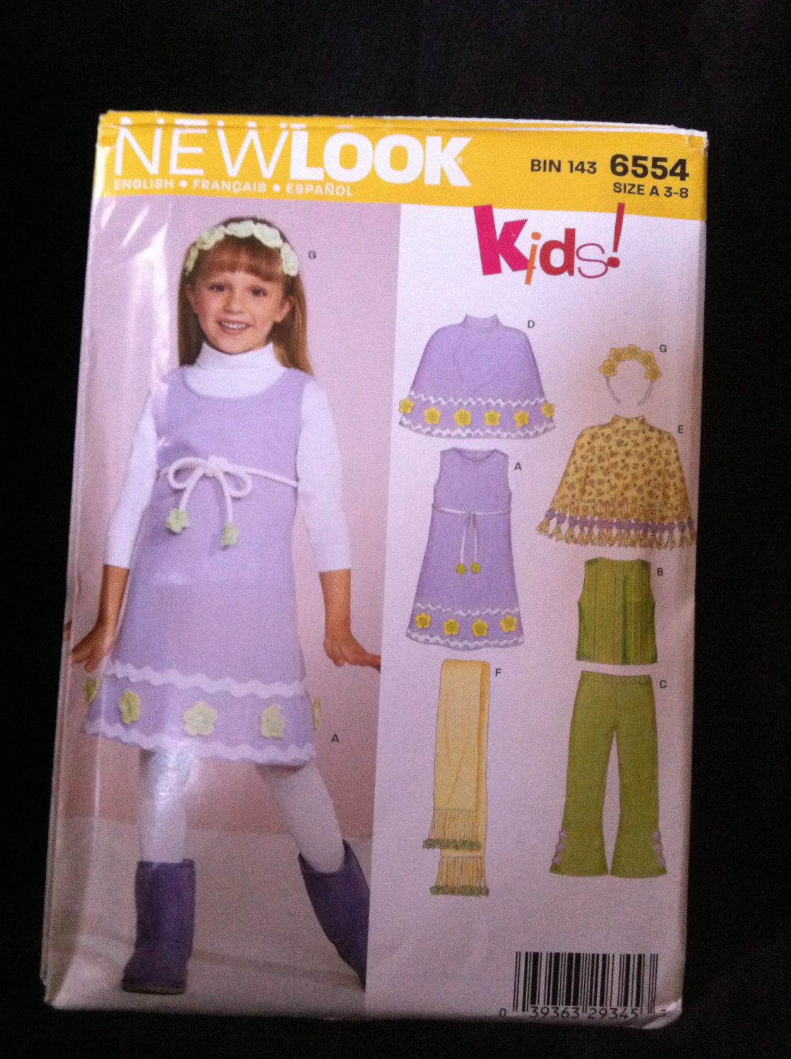 Brand new simplicity new look pattern makes a girls jumper