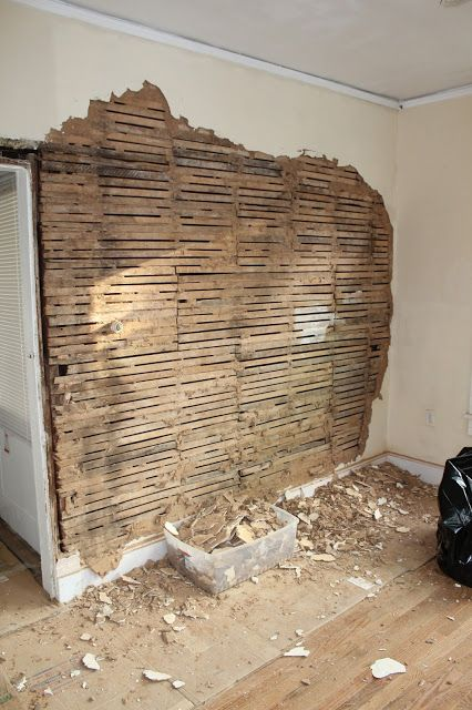 Removing One Wall Of Plaster And Lath Bungalow Rehab