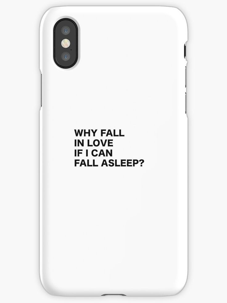 Why Fall in Love if I can Fall asleep? Funny quote humor typography tumblr iPhone Case by vanessavolk