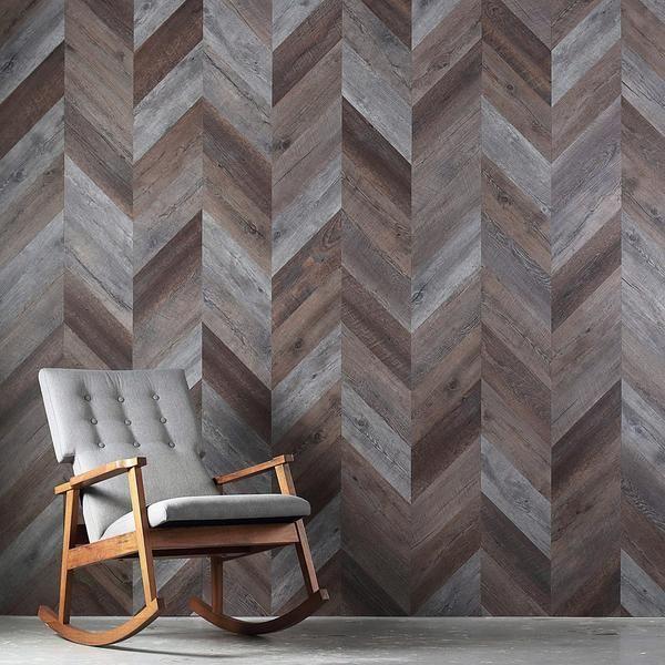 Mistana Ansel Chevron Pantable Peel And Stick Wallpaper Roll Reviews Wayfair Wood Wallpaper Peel And Stick Wallpaper Herringbone Wallpaper