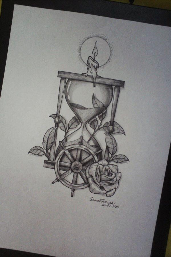 Ampulheta Deckoillustrations Ampulheta Tatuagem De