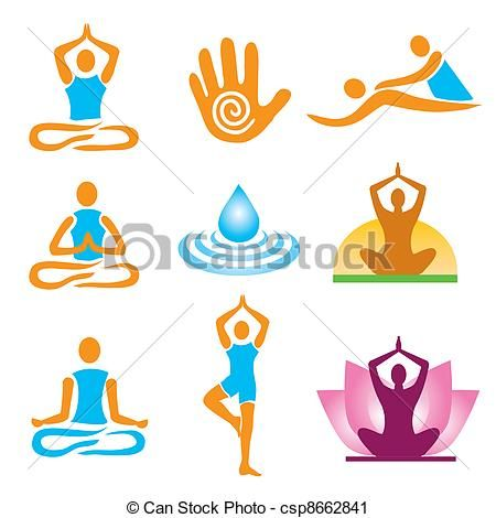 Massage Therapy Pictures Clip Art Free Vector Clip Art Of Icons Yoga Spa Massage Set Of Yoga Massage And Logo Set Massage Images Massage