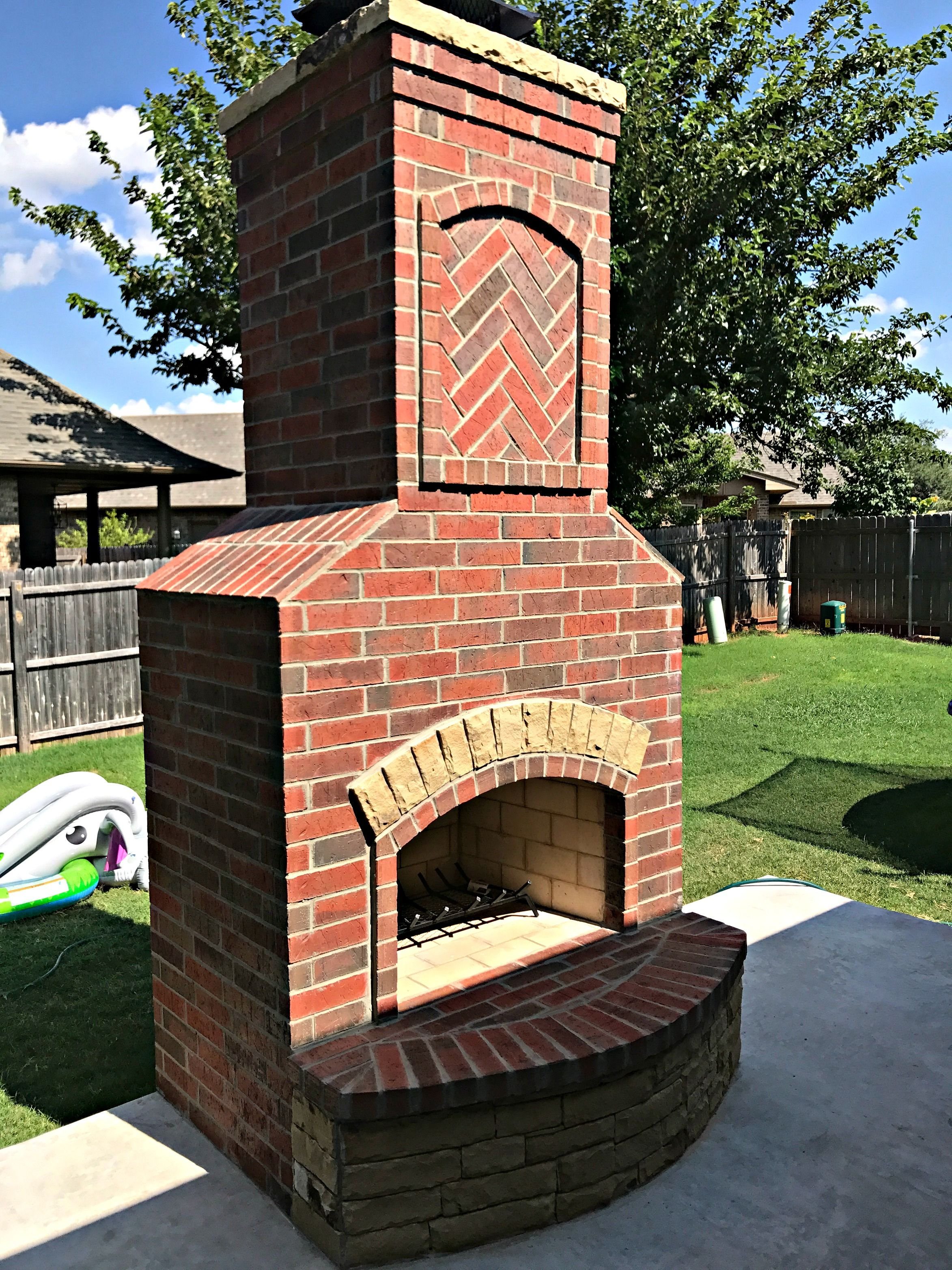 Pin by PMHOKC.com on Custom Outdoor Fireplaces | Fireplace ... on Simple Outdoor Brick Fireplace id=49279
