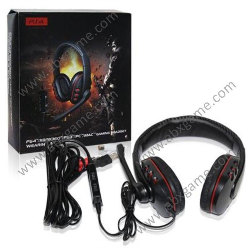 5 In 1 Wired Stereo Headset With Mic For Ps4 Ps3 Xbox 360 Pc Ps4 Headset Headset Pc Headphones