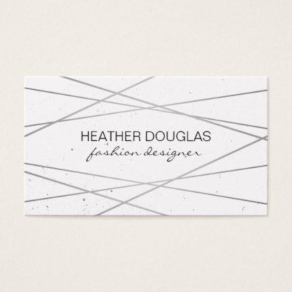 Geometric silver lux speckled business card colourmoves