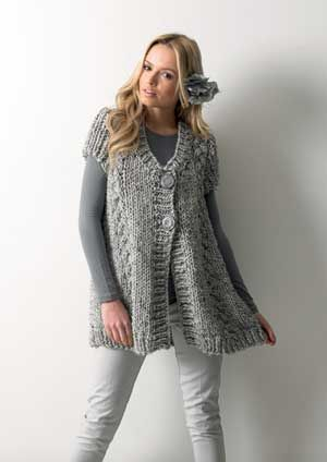 Knit A Chunky Cable Cardigan Free Pattern Allaboutyou