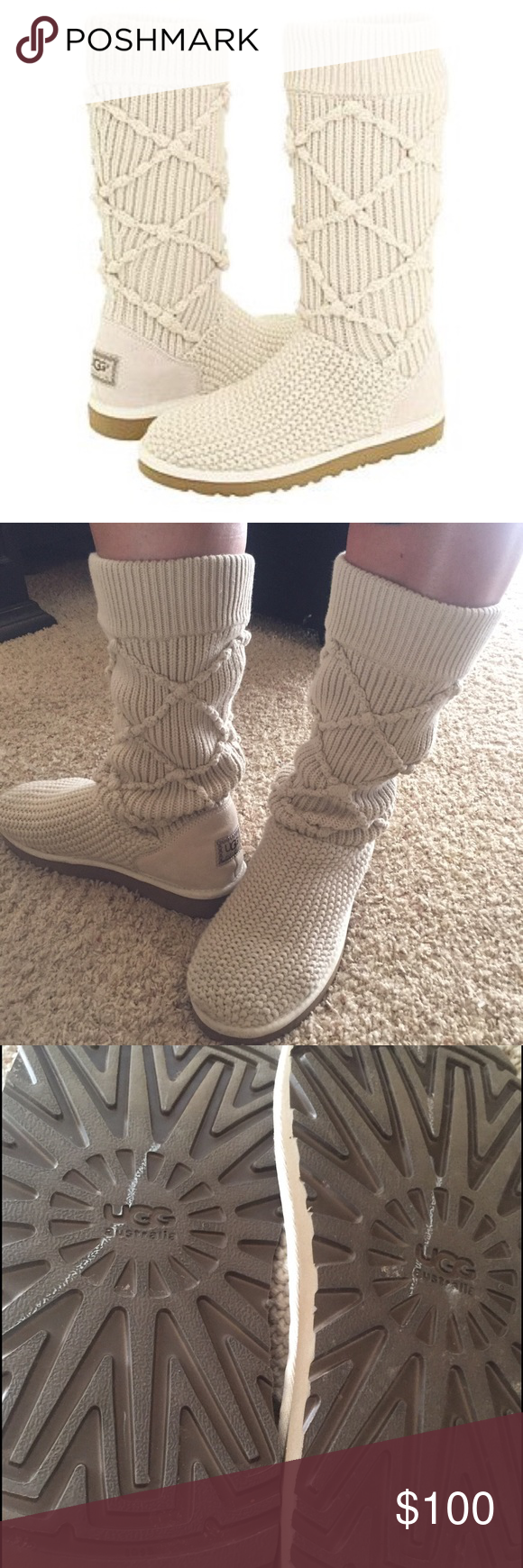 2b79062f6e2 UGG Argyle Knit Boots Great condition! Worn a few times. UGG Shoes ...