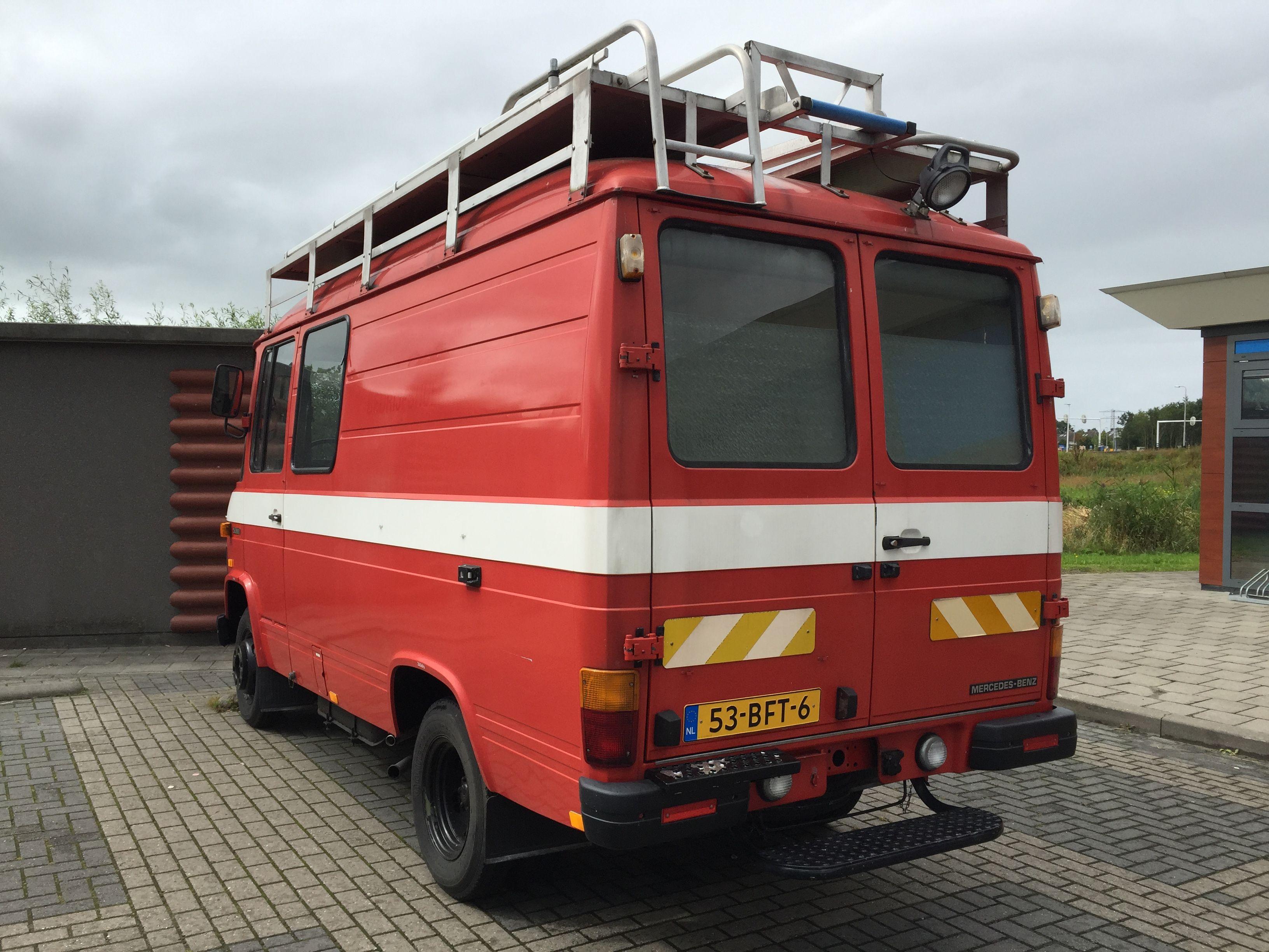 Mercedes 508 ambulance firetruck soon to be a custom campervan custom camper by