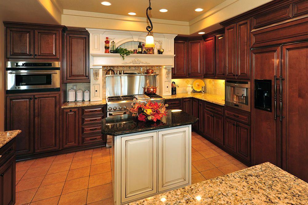 Stanisci Wood Range Hood (OABT Series) In Colorado Creative Cabinetry  Kitchen