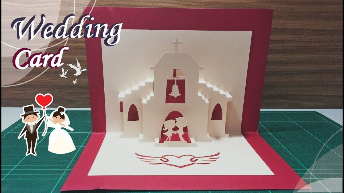 Wedding Card 01 Pop Up Card Tutorial With Wedding Pop Up Card Template Free Pop Up Card Templates Card Templates Free Card Tutorial