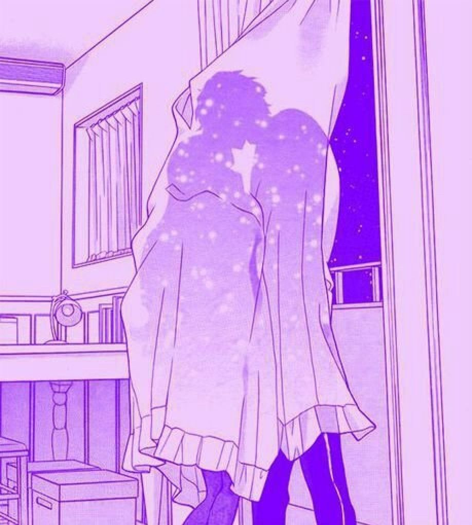 Pin By Alex On Anime Couple My Favorite Purple Aesthetic Aesthetic Anime Violet Aesthetic