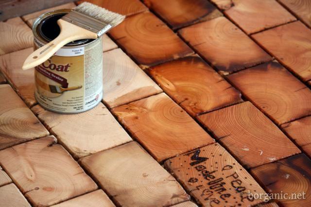 DIY End Grain Wood Floor Installation (With images)   Diy ...