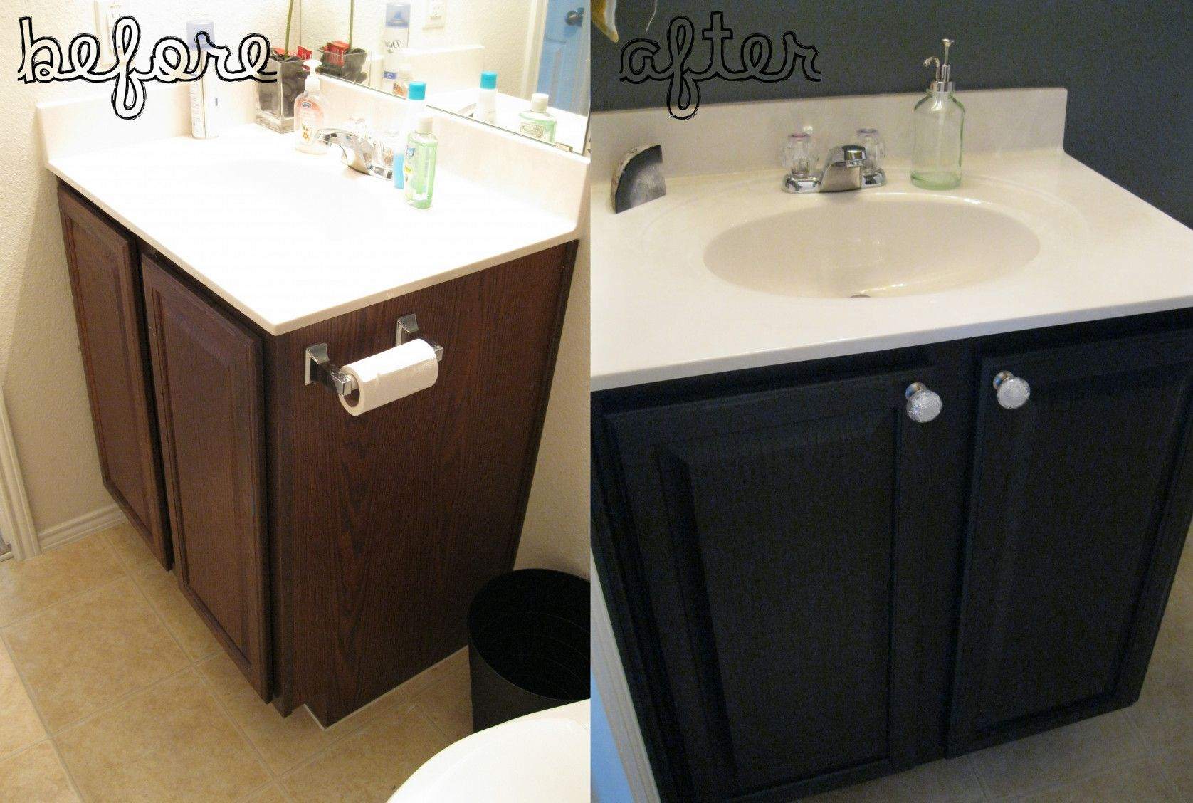 99 How To Paint Bathroom Cabinets