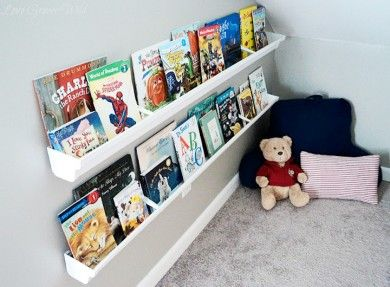 Love This Idea Using Gutters For Bookshelves A Diy