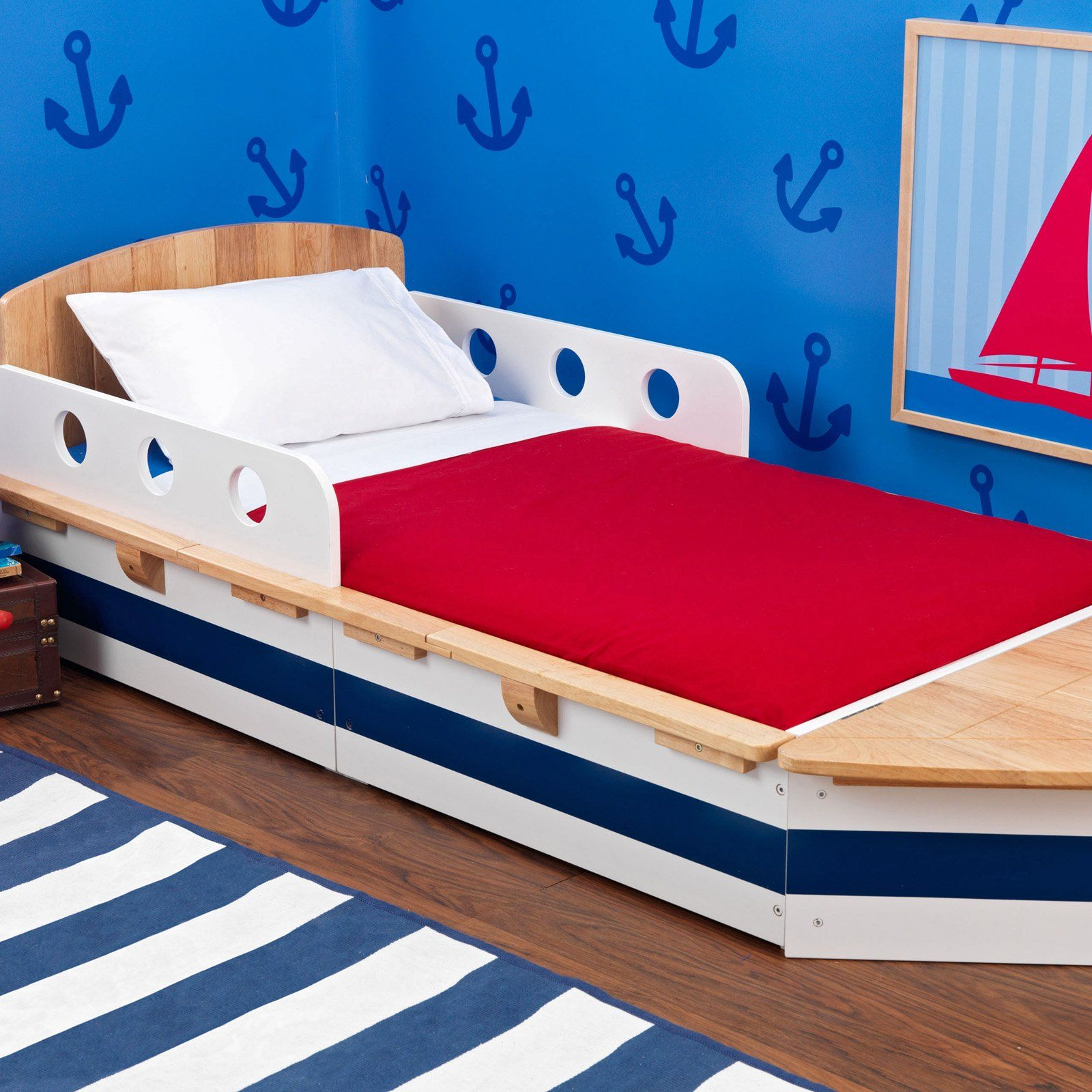 Have to have it. KidKraft Boat Toddler Bed 193.99 Cool
