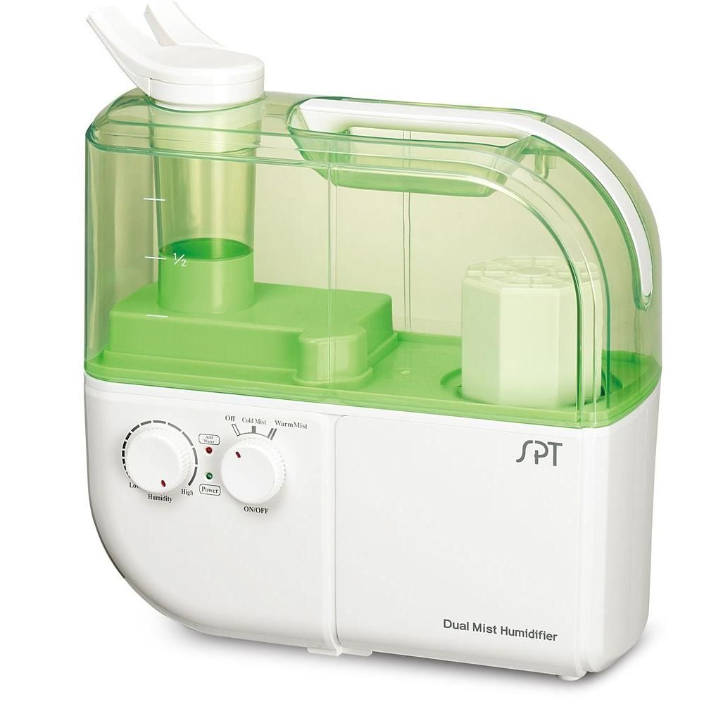 Spt Dual Mist Humidifier With Ion Exchange Filter Green