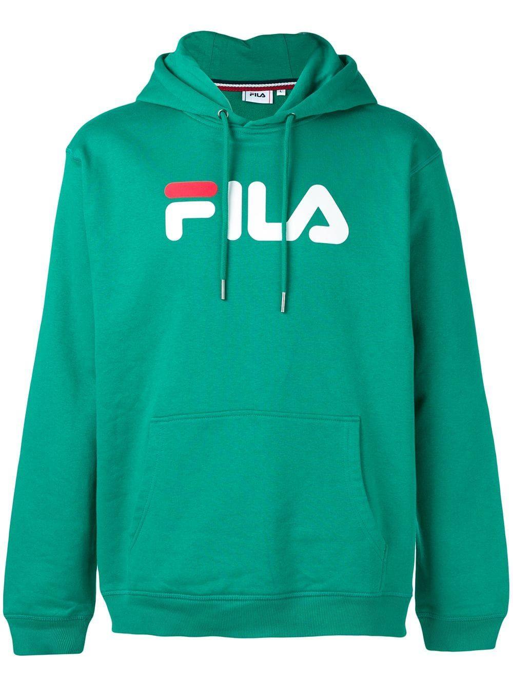op groothandel delicate kleuren vrouwen FILA FILA LOGO PRINT HOODIE - GREEN. #fila #cloth   Fila in ...