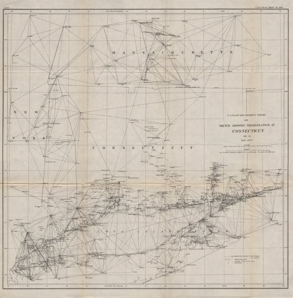 CONNECTICUTMAPS US Coast and Geodetic survey 1888 sketch showing
