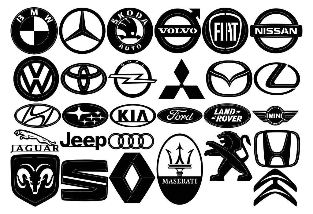 Car Brands Emblems Logo | Dxf CNC | Car brands logos, Car