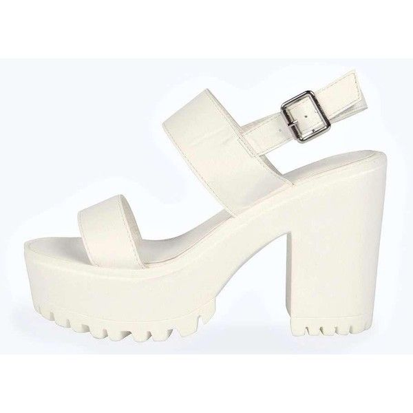28219a111e4379 Boohoo Grace Strappy Cleated Sandal ( 44) ❤ liked on Polyvore featuring  shoes