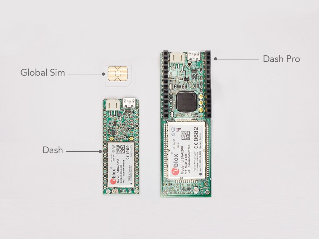 The Konekt Dash is a cellular development kit for building Internet of Things (IoT) devices.