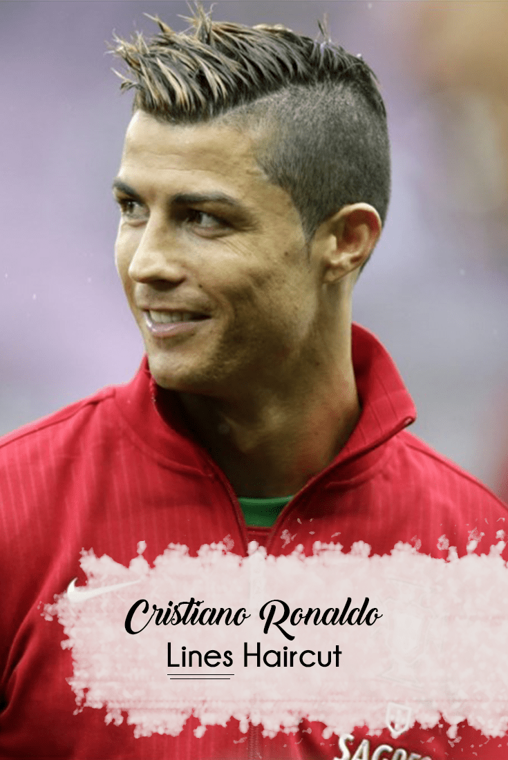 Cristiano Ronaldo Look Book Lines Haircut Mens Hairstyle