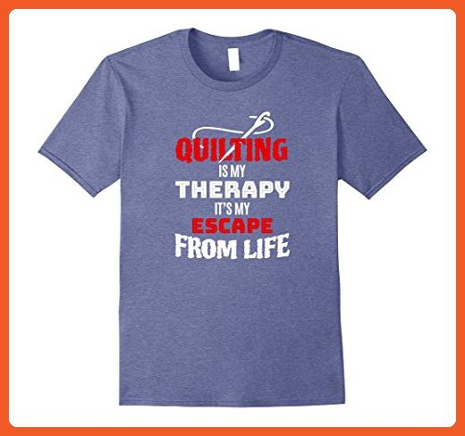 f1525224b Mens Funny Quilting T-shirt - Gift Quilting Is My Therapy XL Heather Blue - Funny  shirts (*Partner-Link)
