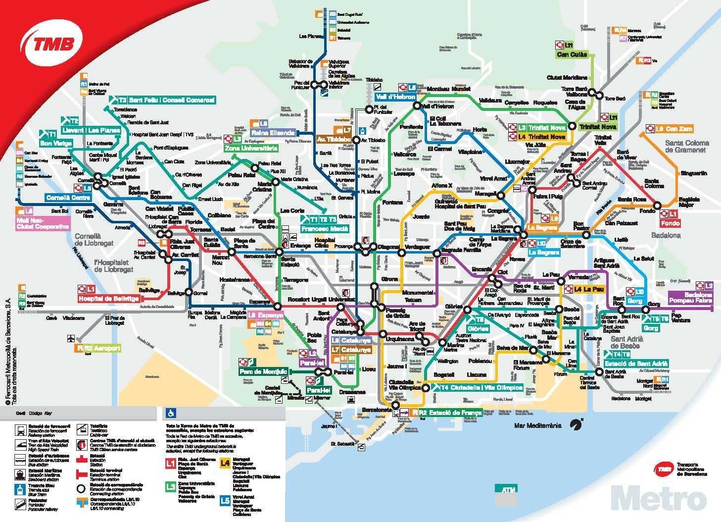 Mapa del metro de Barcelona La Comunidad Pinterest Barcelona trip