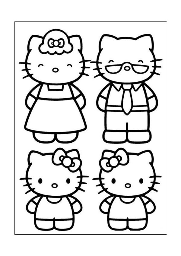 Dibujos Para Colorear Hello Kitty 22 Coloreables Coloriage Hello