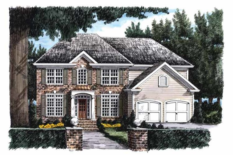 Classical Style House Plan 5 Beds 3 Baths 2607 Sq Ft Plan 927 686 In 2020 Georgian Homes Colonial House Plans Floor Plans