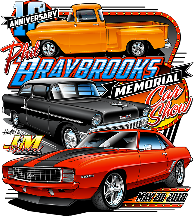 Phil Braybrook 10th Annual Memorial Car Show Riverside Car Show