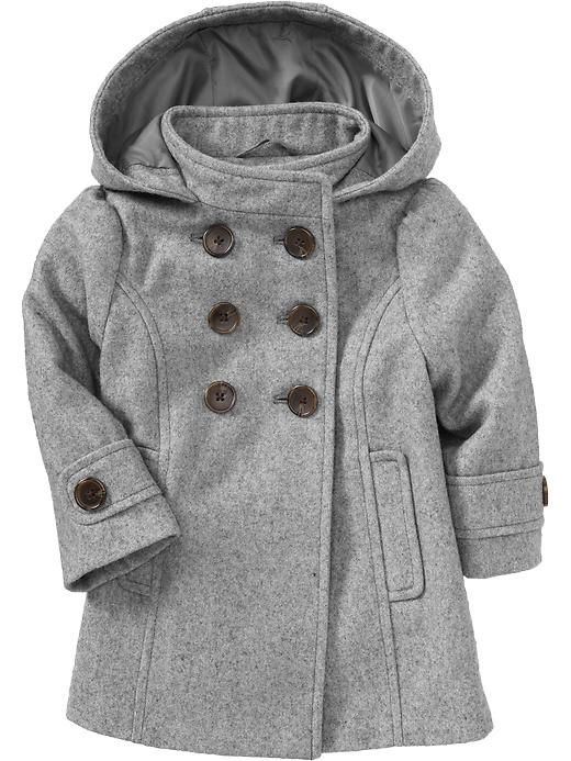Gray Toddler Girl Pea Coat Toddler Girl Style Cute