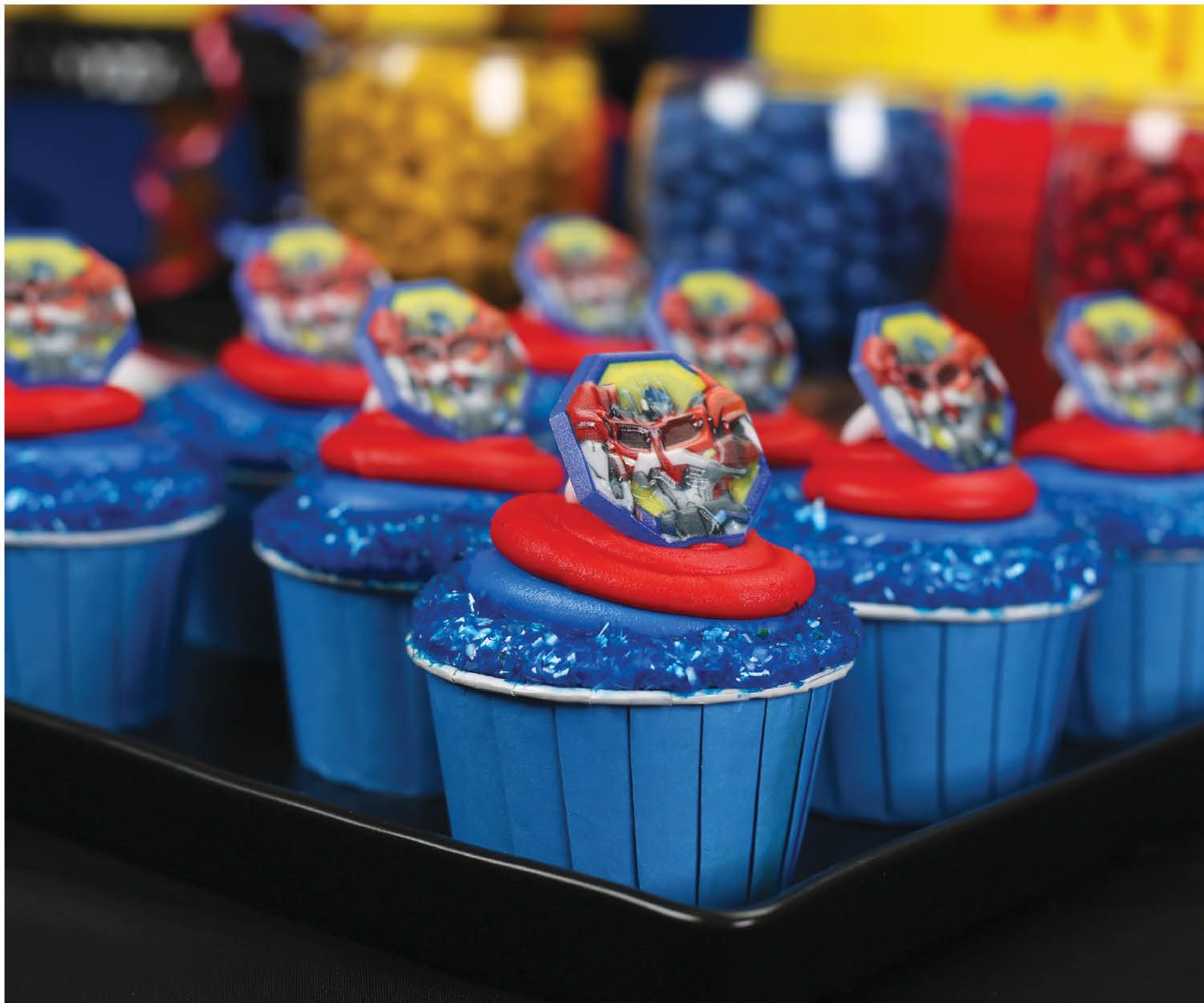 Birthday Party Ideas Transformers Cupcake Topper Rings