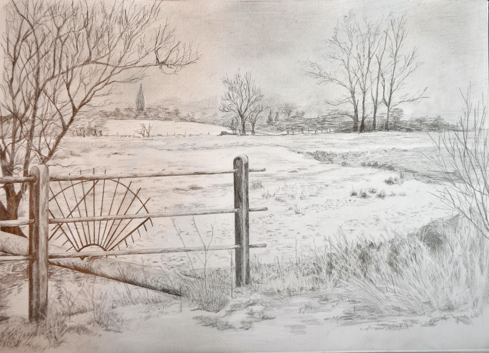 Pencil and paper on pinterest landscape drawings pencil for What is landscape drawing