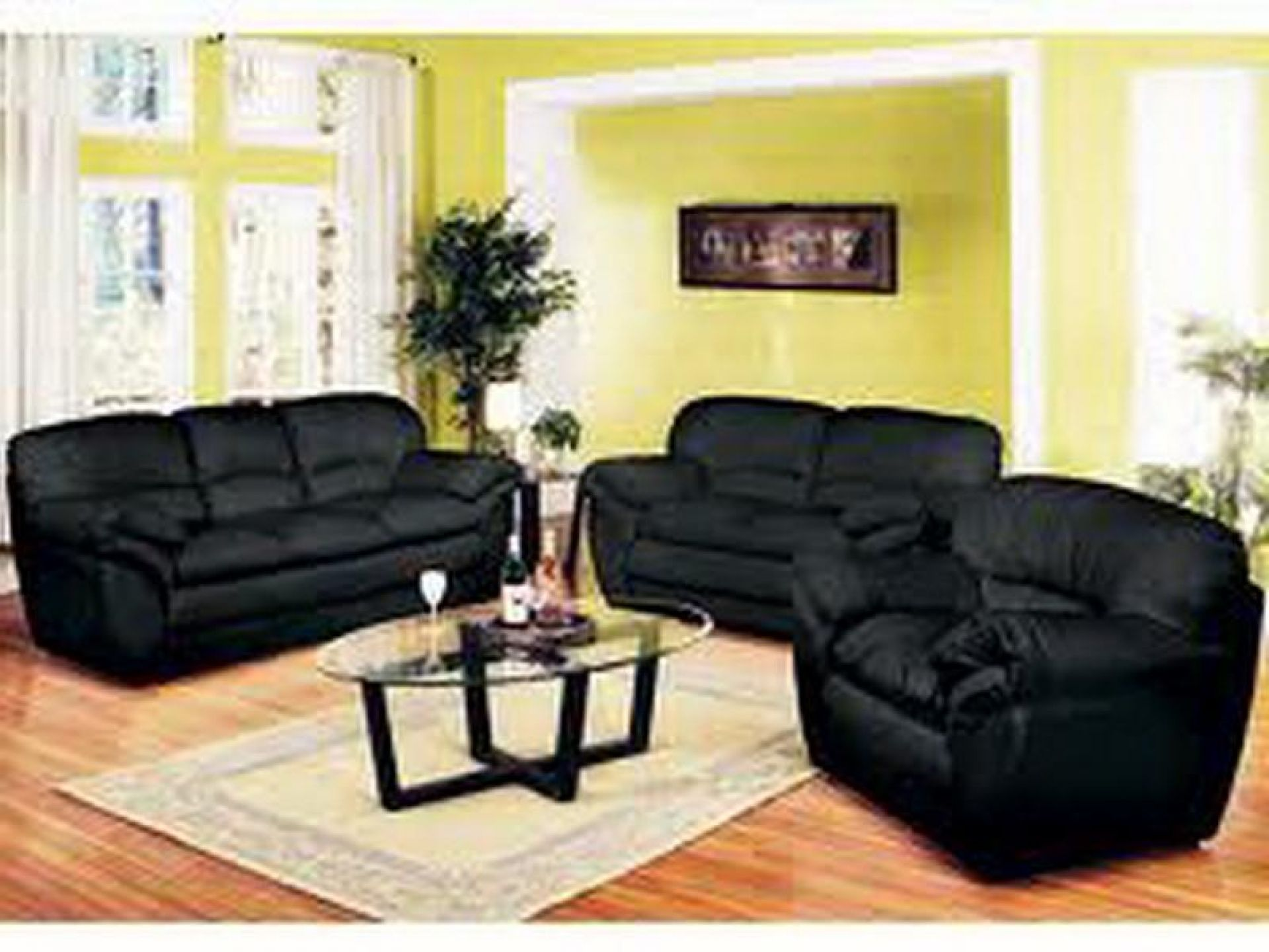 Modern Black Living Room Furniture Black Living Room With Black Furniture  Decorating Black Living Room Furniture Black Fu. Part 38