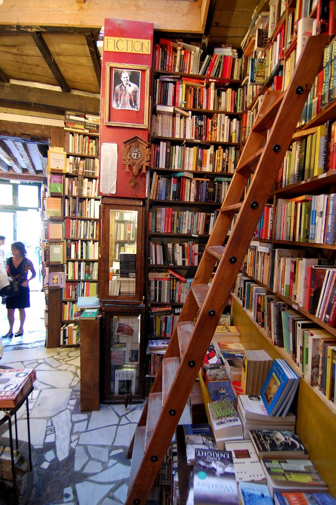 Interior of bookstore, Shakespeare & Co., Paris, where they ask you not to take pictures