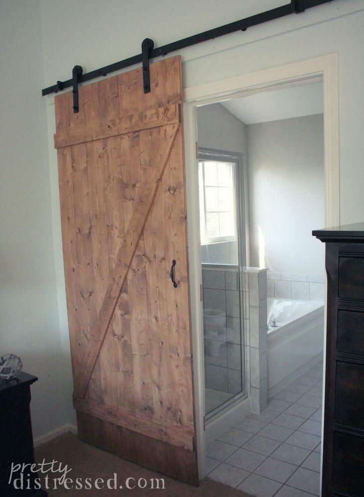 Diy distressed sliding barn door old barn doors