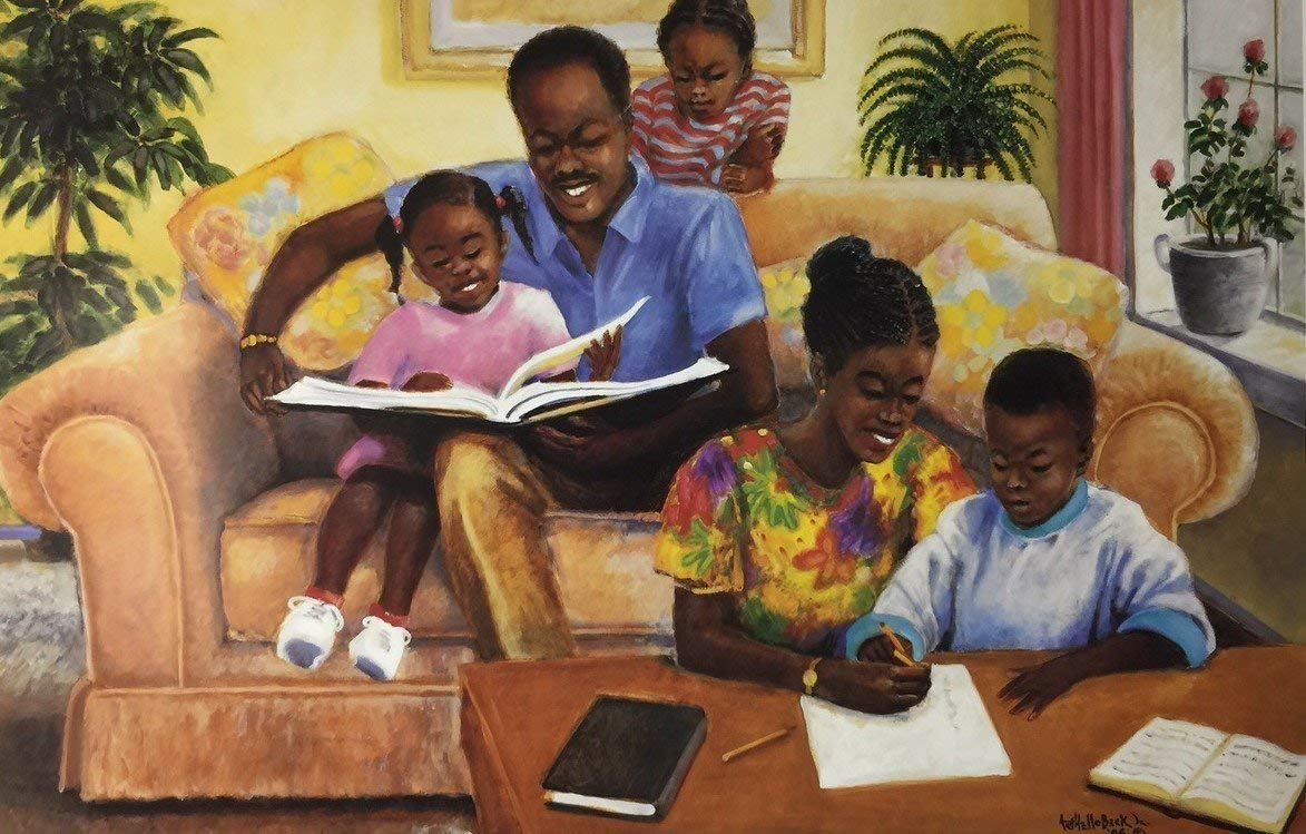 Black family art pieces to add to your home family