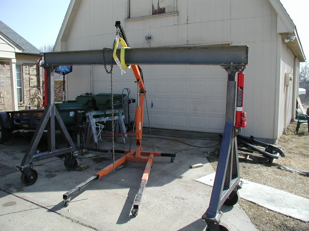 4 ton gantry crane build tools pinterest welding for Shop hoist plans