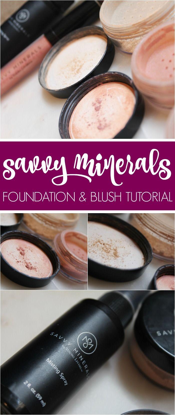 Savvy Minerals Foundation & Blush Tutorial! Savvy