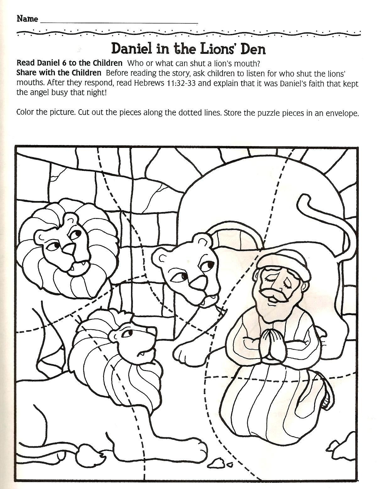 Daniel And The Lions Den Coloring Page Daniel Lions Den Coloring