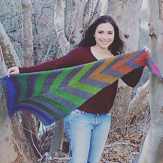 Zsuzsika is a lovely shawl that is knit sideways.