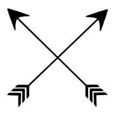 Did You Know That Crossed Arrows Are A Native American Symbol For Friendship Well Now You Do Black Tem Arrow Tattoos Crossed Arrow Tattoos Friendship Tattoos
